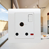 UK 3 round feet 15 amp switched socket
