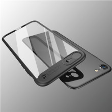 Popular design TPU PC transparent clear protective mobile phone back cover case for iPhone 8 8 plus
