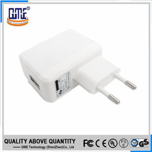 CE GS marked EU plug portable 5v 1a USB rechargeable mobile phone wall charger
