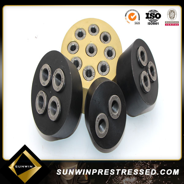 prestressed round Anchor And Wedges For 12.7mm Steel Strand
