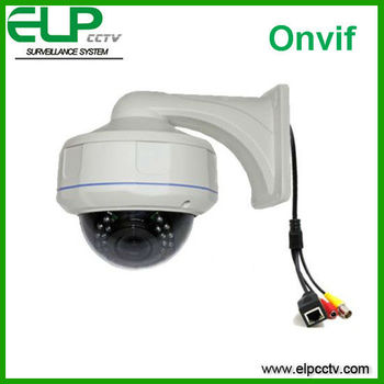 cctv system 35m IR Vandal Resist&Waterproof Armor Dome IP Camera with bracket ELP-IP8642
