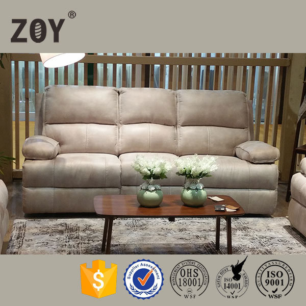Lowest price high density sponge super soft comfortable fabric recliners Zoy 9946A