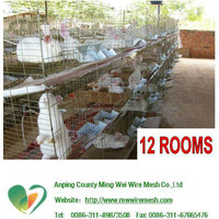 metal Material and animal cage Type affordable indoor rabbit cages