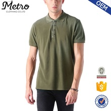 OEM high quality best sale zipper collar polo shirt for man