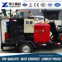 Big Power Engine filling speed 10m/min hand push asphalt road crack filling machinery Hot melt kettle volume 100L For Bu