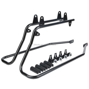 Heavy duty Saddlebag Saddlebag conversion brackets fit for Softail Black