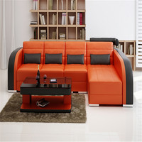 Nice leather sofa colorful sectional living room furniture