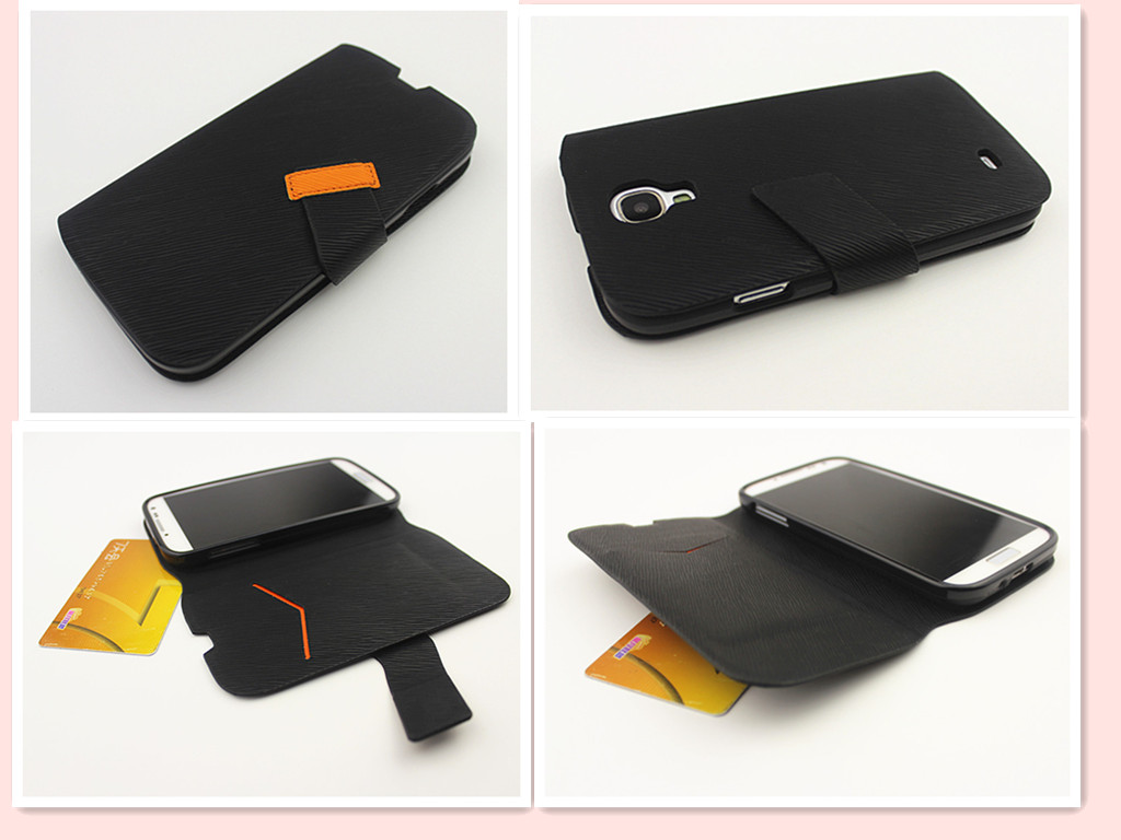 Wallet leather cases handphone accessories for samsung galaxy s4 case