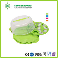 plastic double-use cake carrier/cupcake carrier