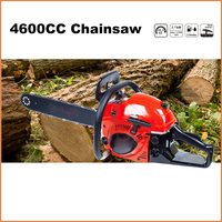 (943) new design petrol 2 stroke gasoline chainsaw 4600cc with CE and GS certificate
