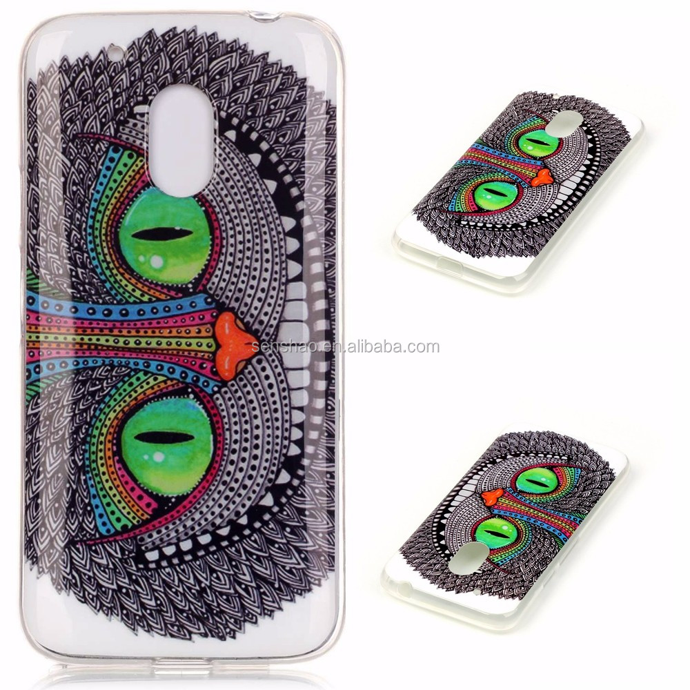 cheap wholesale OEM/ODM Cell Phone Case soft TPU colors print Mobile phone protective cover case super thin case for MOTO G4