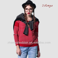 new design girl stripe sweater sport style