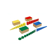 Montessori Cylinder Block Montessori Toys Wooden Baby Toys Set Of Knobless Cylinders