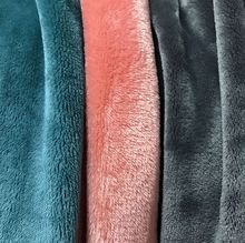 100 polyester jiangsu double-sided plain dyed knit baby blanket flannel fleece raw materials