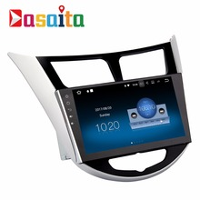 "Dasaita 9"" Android 7.1 2 din GPS navigation car multimedia audio radio stereo player for Hyundai/Verna/I25/Solaris without DVD"