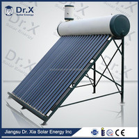 Environmental friendly without air pollution new hot copper coil pre heated solar water heater for home