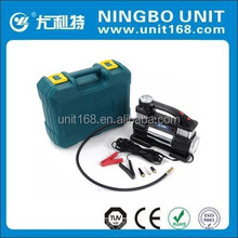 High pressure portable mini car air compressor YD-3316,tyre inflator with blow case and color sleeve