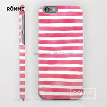 China Manufacture supplier wholesale customized Stripe pattern phone accessories mobile case hard back phone case for iphone 6