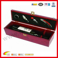 popular red wine opener cases wooden wine box rectangle wine sets wholesale 2013