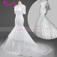 Sexy Princess Wholesale Lace Appliques For Alibaba Wedding Dresses 2016 with Sleeve