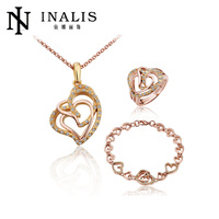 hot New products three pieces set 18k rose gold african jewelry sets