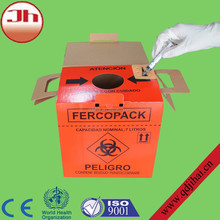 disposable biohazard medical sharp corrugated box