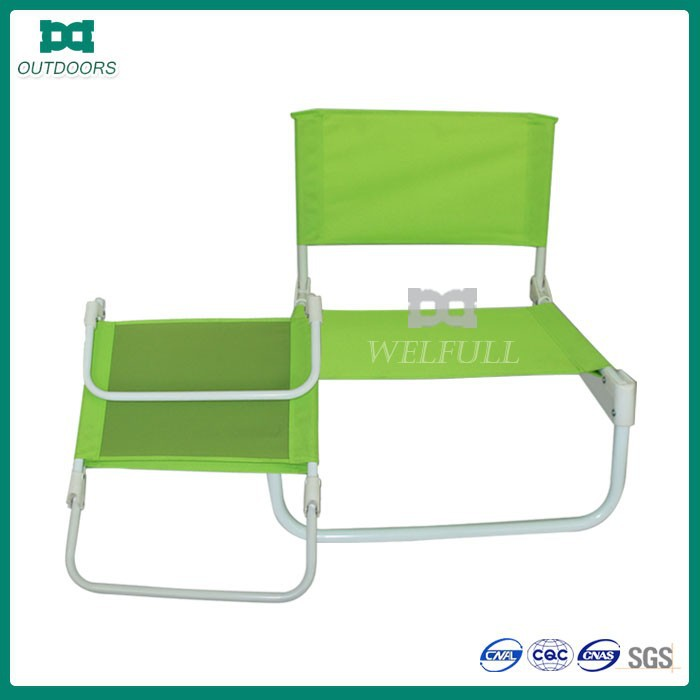 Steel low sand portable fishing folding lawn chair
