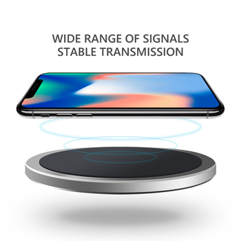 2018 New qi standard wireless charger fast charging pad for iphone 8 X