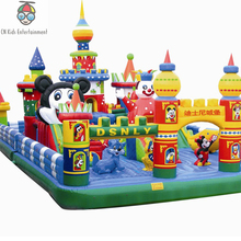 PVC castel inflatable mickey mouse huge size playground customized bouncer for sale