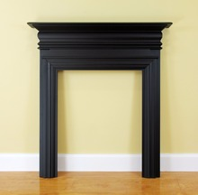 EURO Best Seller Bronte Black Painted Solid Wood Fire Surround Fireplace Mantels