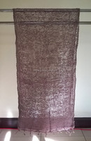 Dark Purple Scarf and Shawl Genuine Naturally Dyed Colour Handmade Handcraft Weaving Scarfs & Shawls from Thailand
