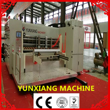 420 roller series of high speed printer rotary slotter die cutting creasing wiht stacker machine(lead edge
