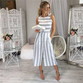 2018 new autumn and winter European and American women's cotton stripes seven piece pants