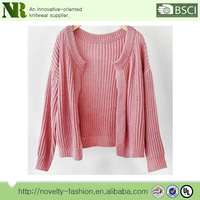wholesale soft touching and comfortable woman's sweater common designs for ladies
