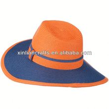 Two Tone PP Braid Panama Style Hat