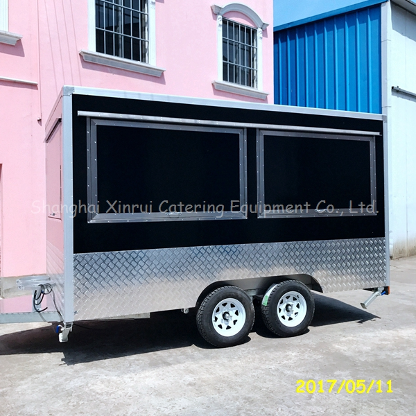 mobile food truck cart stall with wheels for sale