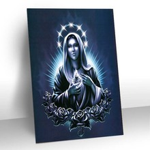 3d cartoon figure pictures of virgin mary paintings