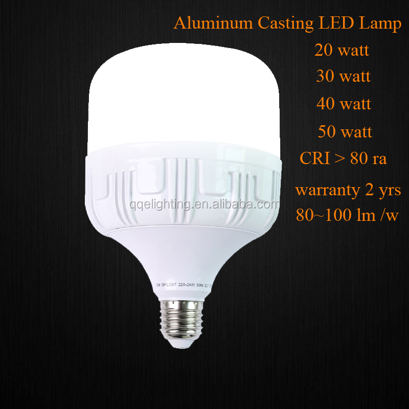 QQE LED indoor lighting lamp 50 watt , Big watt Aluminum casting LED lamp