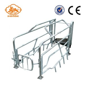 High Quality Easy Clean Automatic-welding Pig Livestock Farm Equipment Used Tube Farrowing Crates