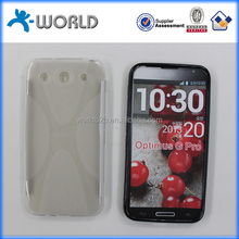 Clear X line soft tpu cover case for LG OPTIMUS G PRO made in china paypal accept