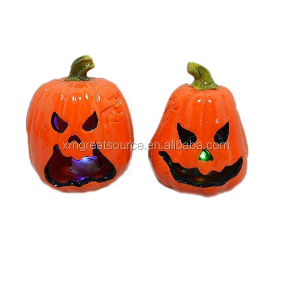 Direct factory Halloween pumpkin Ceramic pumpkin light decorations