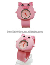 Lovely bright sport animal silicone unbranded watches quemex quartz watches