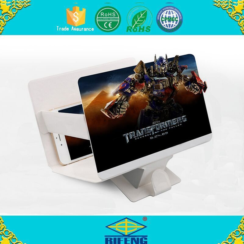 Hot Selling Plastic 3d Mobile Phone Enlarge Screen Magnifier with Stand
