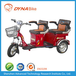 Shenzhen Three Wheel Two Seats Green Power Passenger Tricycle/Three Wheel Bike