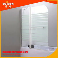 Queen-bath JR5212A Wholesale frameless glass portable shower screen,90*90 framed arc shower screens