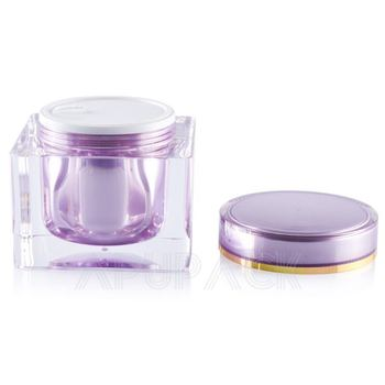 Cosmetic Electroplate plastic Jar With Screw Lid For Face Mask
