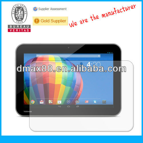Tablet 10.1 inch screen protector for Toshiba Excite Pure oem/odm (High Clear)