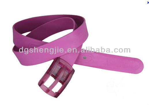 Neon Candy Color Flouro Jelly Plastic Silicone Adjust Buckle Belt