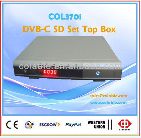 best satellite tv decoder,TV decoder,digital cable tv set top box/SD STB COL370i