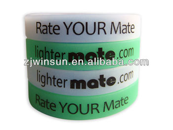 2013 hot sell Grow in Dark silicone wristband